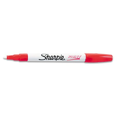 Sharpie® Permanent Paint Marker, Fine Point, Red