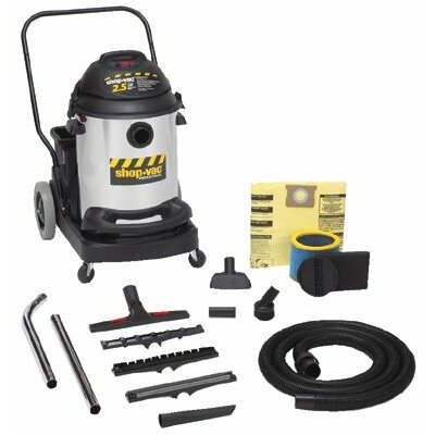 Shop-Vac Shop-Vac - Industrial Flip N' Pour Series Vacuums 15 Gal 2.5 Horsepower Stainless Steel W/Dolly: 677-962-48-10 - 15 gal 2.5 horsepower stainless steel w/dolly