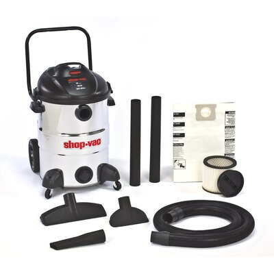 Shop-Vac 16 Gallon 6.5 Peak HP Stainless Steel Rear Dolly with Basket Wet / Dry Vacuum