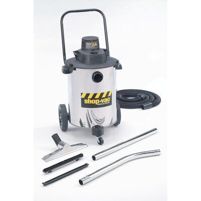 Shop-Vac 10 Gallon 2.0 Peak HP Stainless Steel Contractor Duty Wet / Dry Vacuum