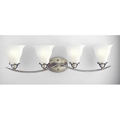 Progress Lighting Trinity Vanity Light in Brushed Nickel