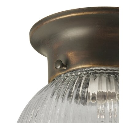 "Progress Lighting 7.25"" Round Semi Flush Mount"