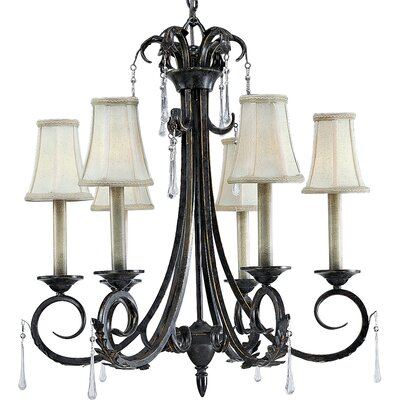 Veranda 6 Light Candle Chandelier