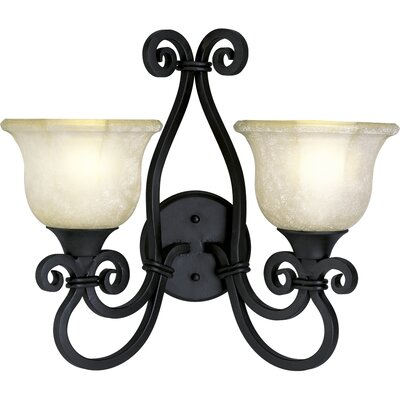 Progress Lighting Thomasville Guildhall Wall Sconce in Forged Black