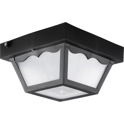 Progress Lighting Outdoor Flush Mount in Black - Energy Star