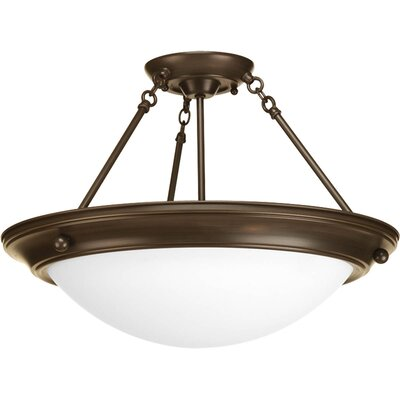 Progress Lighting Eclipse 3 Light Semi-Flush Mount