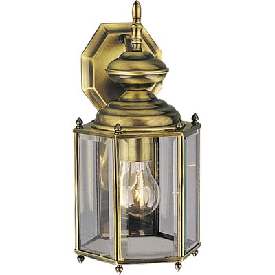 Progress Lighting Hexagonal Brass Guard Incandescent Outdoor Lantern (Polished Brass)