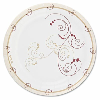 Solo Cups Symphony Design Paper Plates, Poly-Coated 8.5 in, 125/Pack