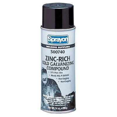 Sprayon Zinc-Rich Cold Galvanizing Compounds - 16oz zinc rich coldgalvanizing