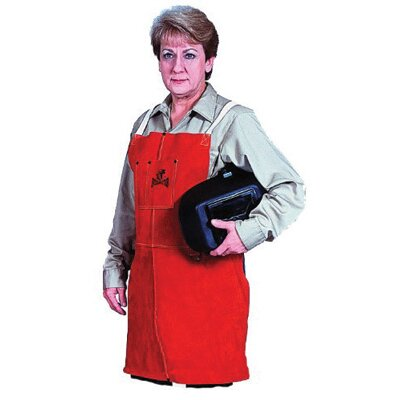 "Stanco 24"" X 36"" Leather Bib Apron With Pencil Pocket"