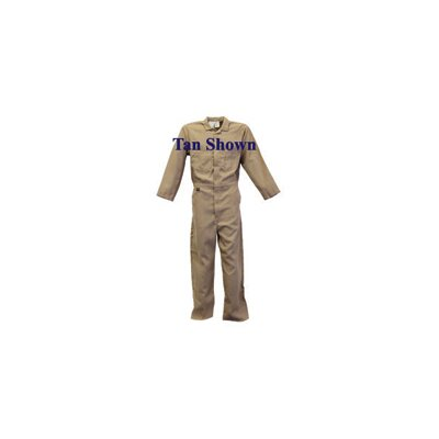 Stanco Medium Navy 6 Ounce Nomex® IIIA Flame Retardant Contractor's Coveralls With, Elastic Waist, Two Front, Rear And Breast Pockets And Concealed Snap Closures