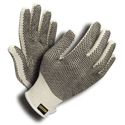 Stanley Tools Natural Blended Shell Gloves with PVC Dots