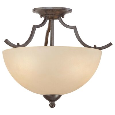 Triton 2 Light Semi Flush Mount Ceiling Light