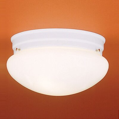 Thomas Lighting 2 Light Glass Shade Flush Mount