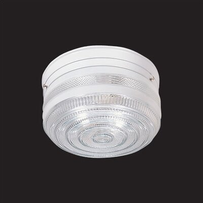 Thomas Lighting 2 Light Crystal Flush Mount