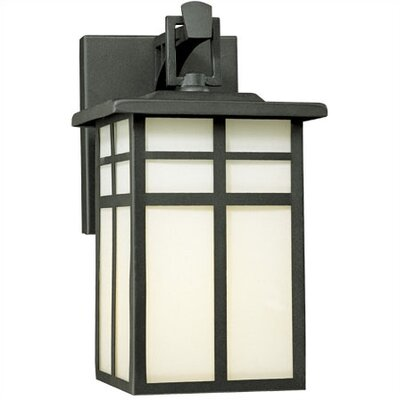 Thomas Lighting Mission Outdoor  Medium Wide Wall Lantern in Matte Black
