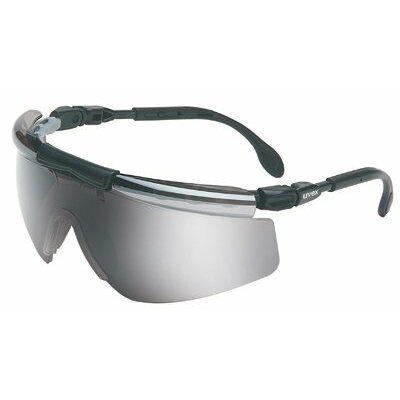 Uvex by Sperian FitLogic™ Eyewear - fitlogic black/silver frame safety glasses silve