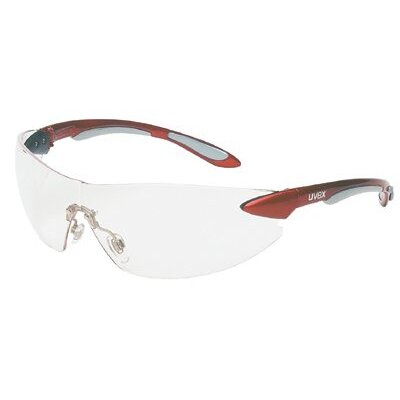 Uvex by Sperian Ignite™ Eyewear - ignite red/silver framesafety glasses clear len
