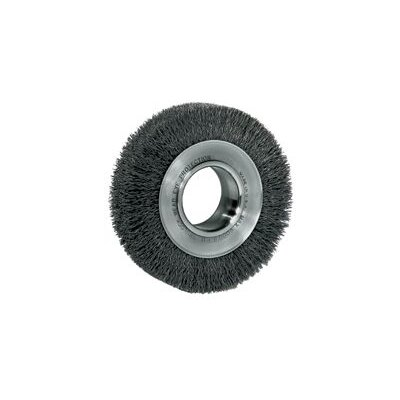 "Weiler 7"" Medium Face Crimped 0.0118 Steel Wire Wheel With 2"" Arbor Hole"