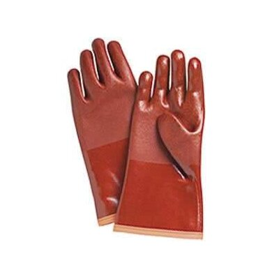 "Wells Lamont Large Red Bemac Polarflex2® Liquid Proof PVC/NBR Polartec® Lined Cold Weather Gloves With 12"" Gauntlet Cuff And Rough Grip"