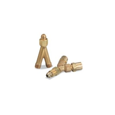 "Western Enterprises 1/4"" NPT Male/Female/Femal Y Connector"