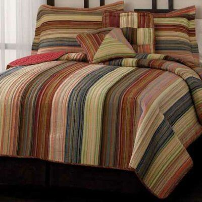 PEM America Retro Chic Quilt Bedding Collection in Red