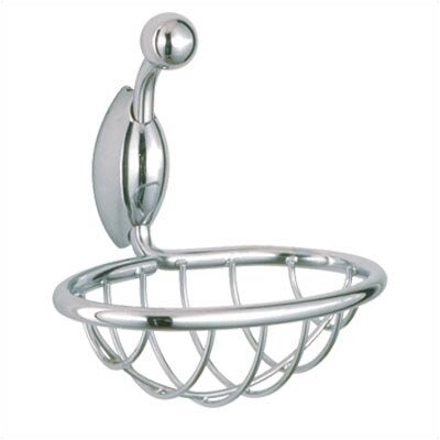 USE Ollipsis Soap / Sponge Basket in Polished Chrome
