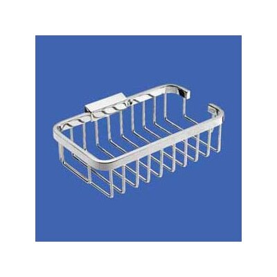 "USE Bath Shower Baskets 8.25"" Deep Rectangular Basket in Polished Chrome"