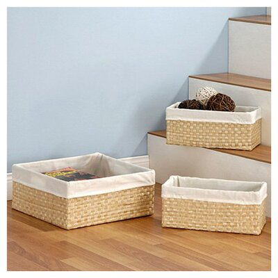 <strong>OIA</strong> 3 Piece Seagrass Basket Set