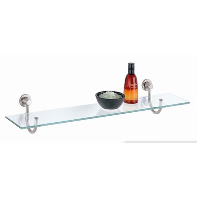 OIA Glass Shelf with Satin Nickel Mounts