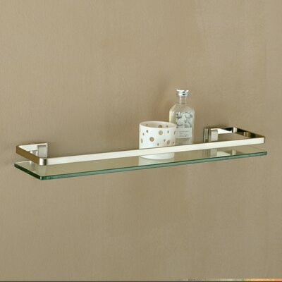 OIA Glass Shelf with Nickel Mounts and Rail