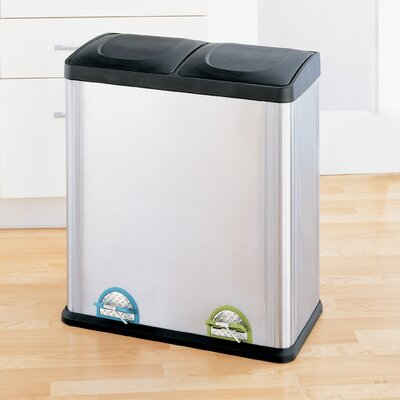 OIA 15.8 Gallon Two Compartment Step-On Bin