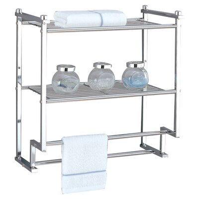 OIA Metro Two Tier Wall Mounting Rack with Towel Bars in Chrome