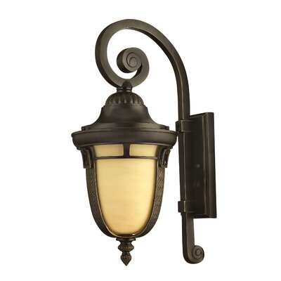 "Hinkley Lighting Key West  21"" x 9"" Energy Efficient Outdoor Wall Lantern in Regency Bronze"