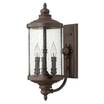 Hinkley Lighting Barrington 3 Light Small Outdoor Wall Lantern