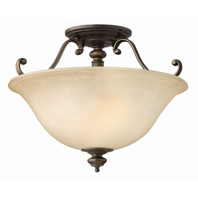 Hinkley Lighting Dunhill 2 Light Semi Flush Mount Foyer