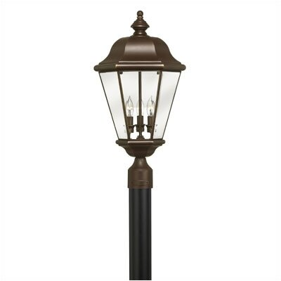 "Hinkley Lighting Clifton Park 3 Light 12.5"" Post Lantern"