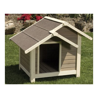 Precision Pet Products Outback Twin Peaks Dog House in Tan / White