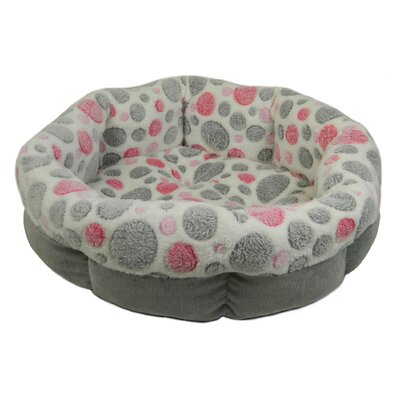 Cute as a Button Shearling Round Donut Dog Bed