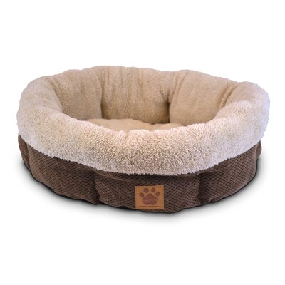 Natural Surroundings Shearling Round Dog Donut Dog Bed