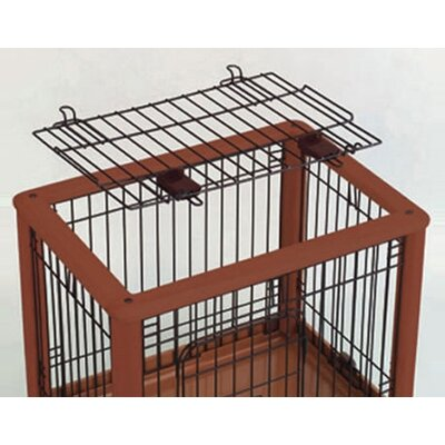 Richell Hardwood Mobile Pet Crate