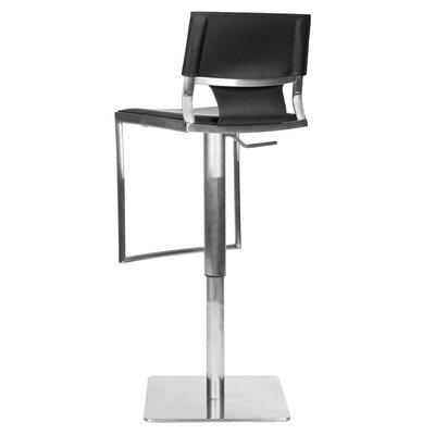 "Safavieh 18"" Liam Leather Barstool in Black"