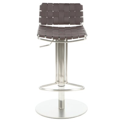 Safavieh Liam Bonded Leather Barstool in Brown