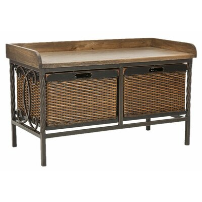 Safavieh Bergen Wood and Metal Storage Bench
