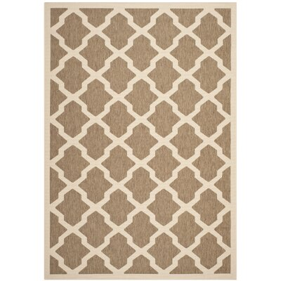 Safavieh Outdoor Rug SizeCourtyard Brown / Bone Outdoor Rug