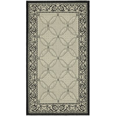 Courtyard Ivory/Black Border Rug