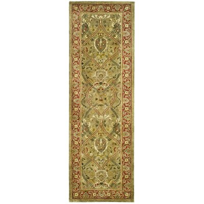 Persian Legend Light Green and Rust Rug