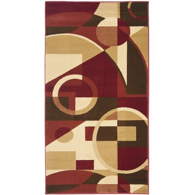 Porcello Red/Multi Flower-Petal Rug