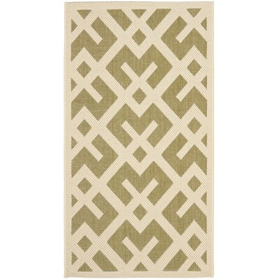 Safavieh Courtyard Green / Bone Outdoor Rug
