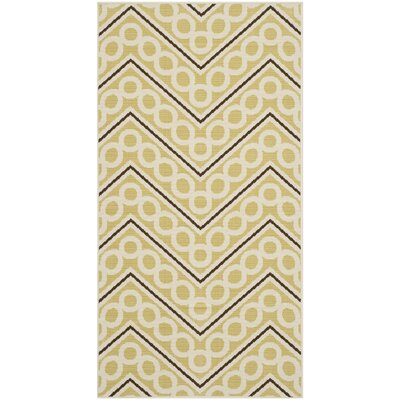 Safavieh Hampton Green / Ivory Outdoor Rug
